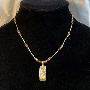 Kenneth Cole Acrylic Mother of Pearl Necklace